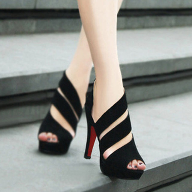 2018 Flock New High Heel Lady Casual black/Red Women Sneakers Leisure Platform Shoes Breathable Height Increasing Shoes 52