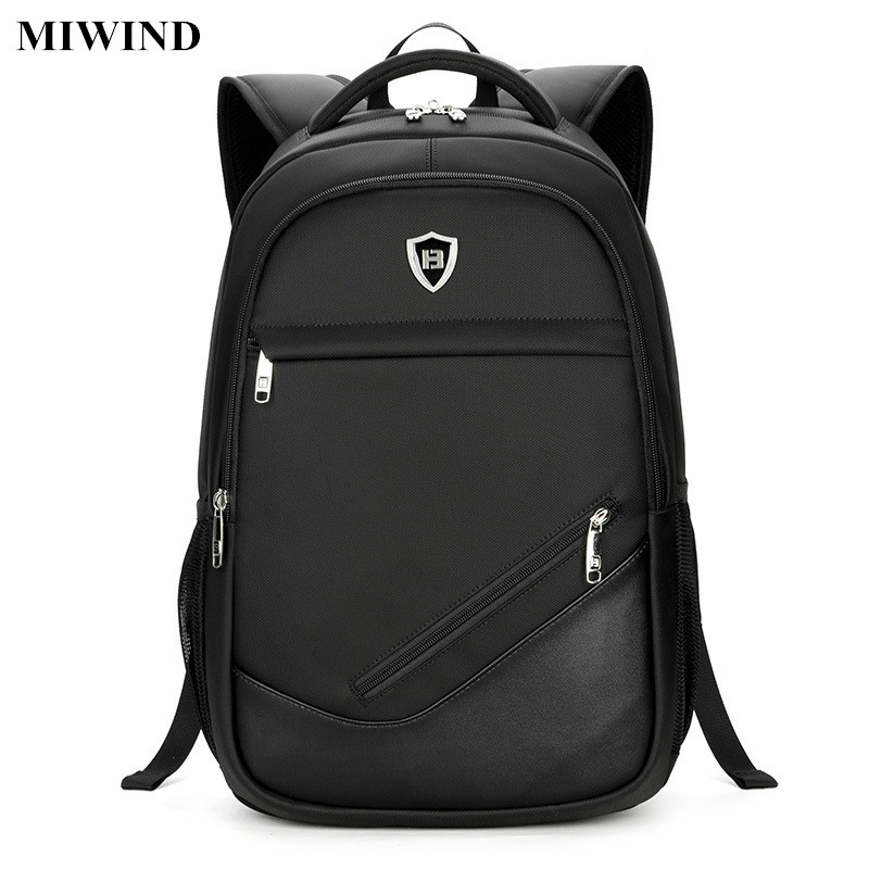 ФОТО MIWIND Business Oxford Backpack Waterproof 15.6inch Laptop Backpack Computer Bag Anti-theft Travel Back Pack Casual School Bags