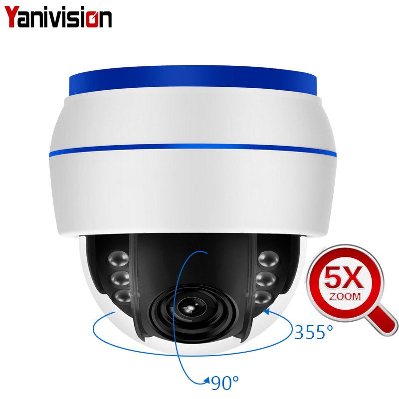 5X Zoom 2 7 13 5mm Wireless Speed Dome PTZ IP Camera Wifi HD 1080P 960P