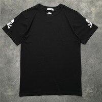 New High luxury Men Fashion T Shirts Embroidered skull bone Casual T Shirt Hip Hop Skateboard Street Cotton T Shirts Tee Top #Z8
