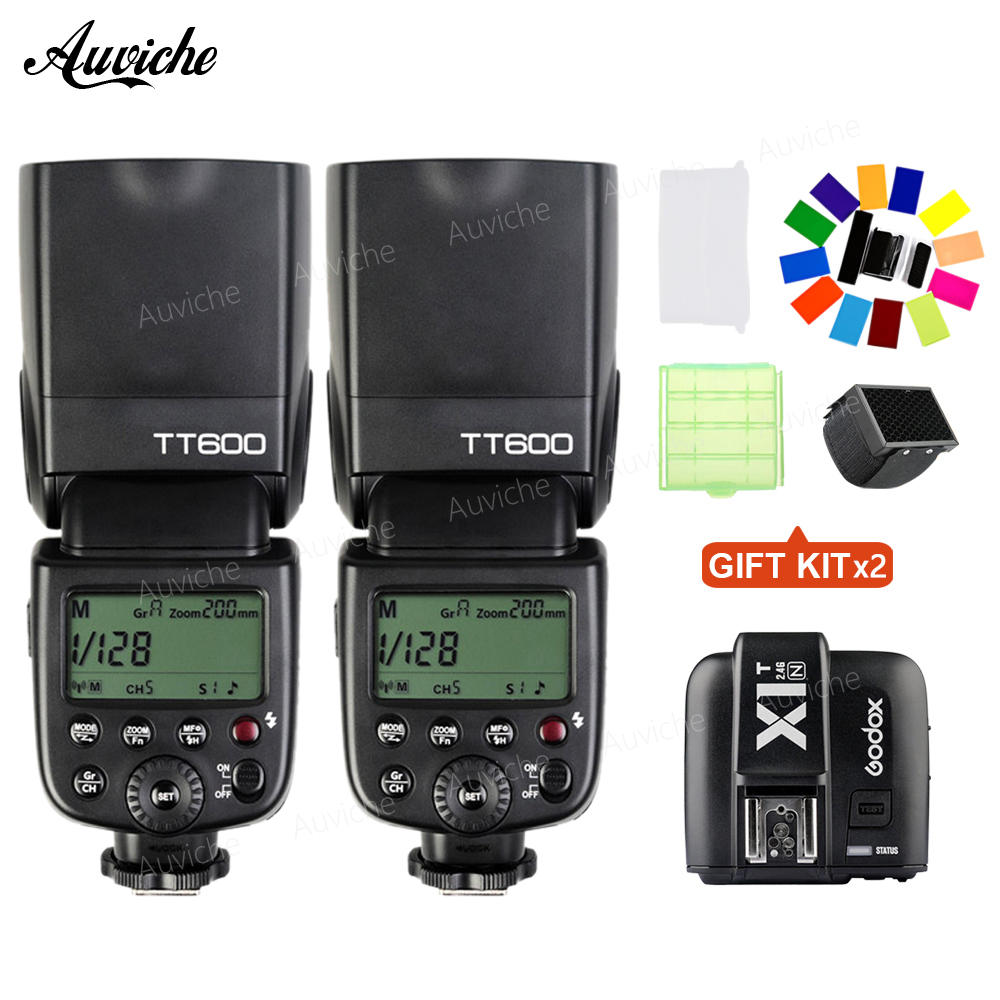 Godox TT600 HSS Wireless Flash Speedlite With X1T-N Wireless trigger for Nikon SLR camera Godox Flash Speedlite godox tt600 gn60 2 4g wireless ttl hss flash speedlite x1t n xpro n trigger for nikon d3200 d3300 d5300 d7200 d750 d90 camera