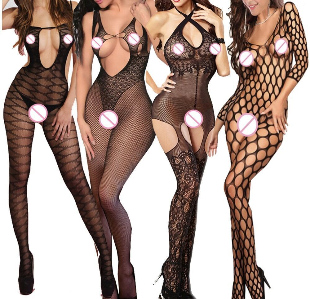 Women Tights Sexy Lingerie Hot Erotic Fishnet Pantyhose Hollow Out Women Stockings Plus Size Babydoll Transparent Lace qq322 image