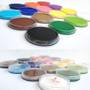 Image 4 - 15 สีหน้าสี maquillage 30 กรัมแต่งหน้าฮาโลวีน akvagrim รงควัตถุ Art ชุด Marker เดี่ยว maquiagem ภาพวาด