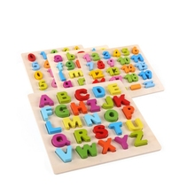 FlyingTown wooden puzzles for children 2-4 years old 3d puzzle jigsaw board educational toys kids learning games fun letter