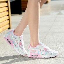 2017 весной платформы дизайнер дышащий женщины повседневная обувь розовый бренд женщина тренеры прогулки обуви на плоской подошве женская модная обувь