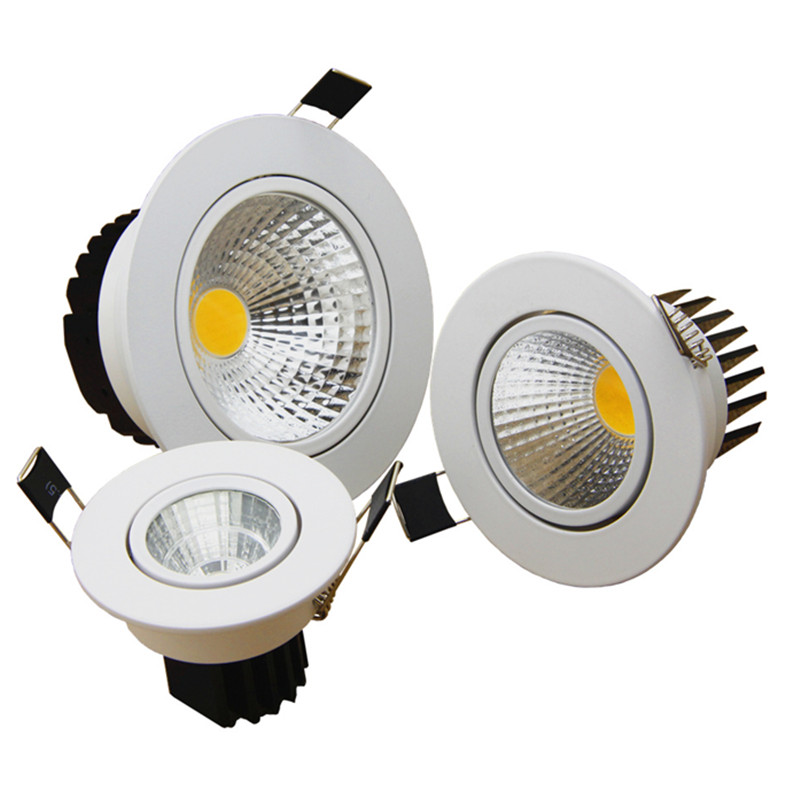 Dimmable LED COB Downlight AC110V 220V 5W 7W 9W 12W Recessed LED Spot Light lumination Indoor