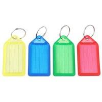 5 pcs of 60pcs plastic Slideable Key Fobs Luggage Tags with Key Rings Random Color
