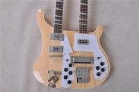 Высочайшее качество Рик 4003 Электрогитара шеи двойной бас 4 бас Строки, 12 Гитары s Гитары похотливый Бесплатная доставка