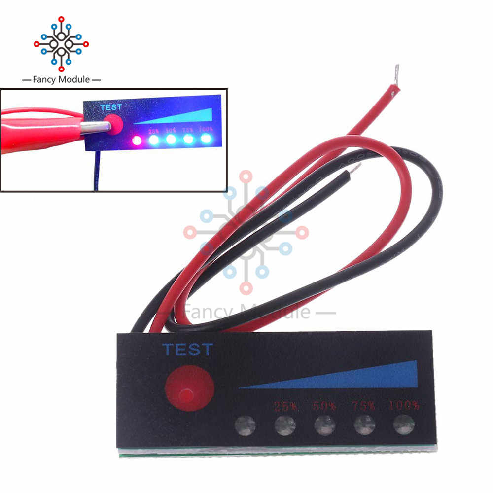 1S 2S 3S 4 4S 5 5S 6S 7S 4.2 V-29.4 V Lithium batterij Capaciteit Indicator Batterij Display Board 40x15MM Tester Li-po Li-Ion Pack