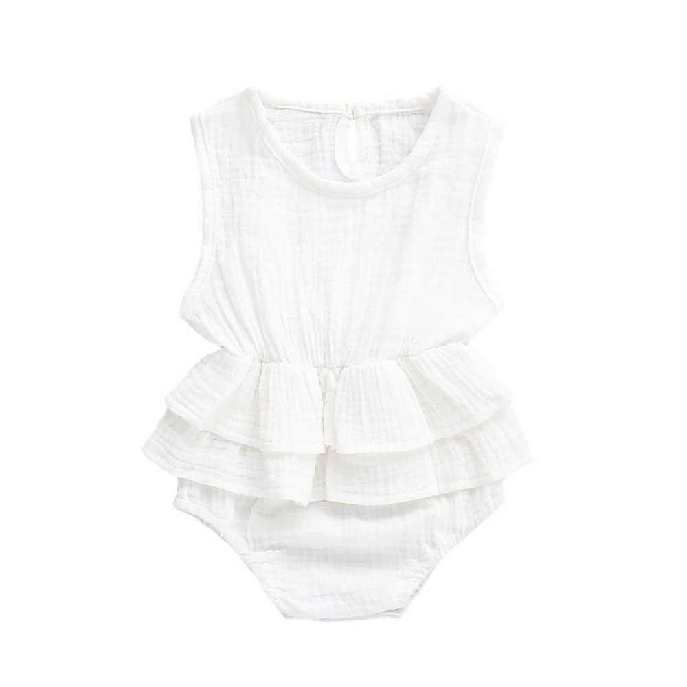 ac30f54b707b0 Newborn Kids Infant Baby Girl Sleeveless Solid Romper Clothes Outfits  Rompers baby boys girls jumpsuit new born