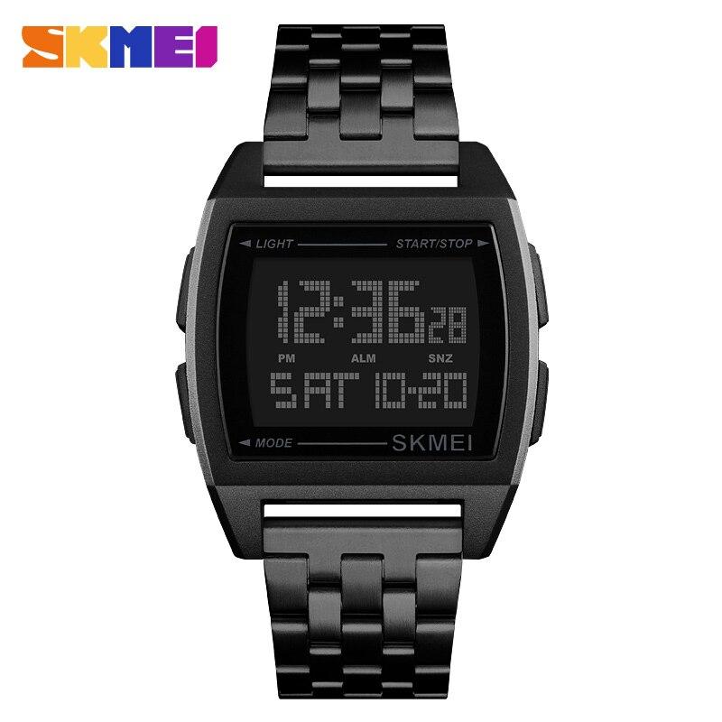 Azul del reloj SKMEI relojes deportivos militares Digital LED reloj electrónico impermeable relojes para hombre marca de lujo hombre reloj Relogio Masculino
