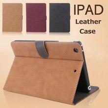 Retro Flip Leather Tablet PC Hibernate Case for Apple iPad Mini 1 2 3 Anti-Dust Waterproof Shockproof Cover Protective Skin Bag