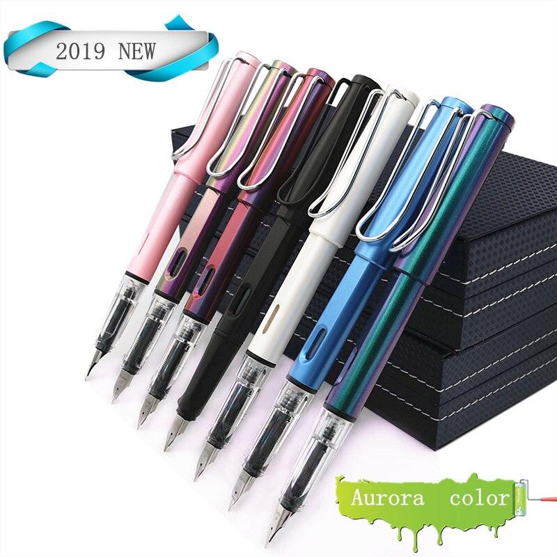 Héroe fuente pluma 0,5mm punta Dazzle fas regalo 22 color disponible lindo nuevo estilo plumas 5 tinta cápsulas y bolsa de la pluma libre