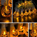 LED Halloween Skull Eyeballs Pumpkin String Party Decoration Fairy Window Lights