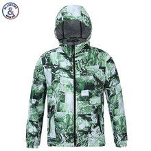 2017 Mr.1991INC Men's Cap Hooded Jacket Waterproof Print Green Hues Thin Polyester Hoody lovely Jacket Outerwear