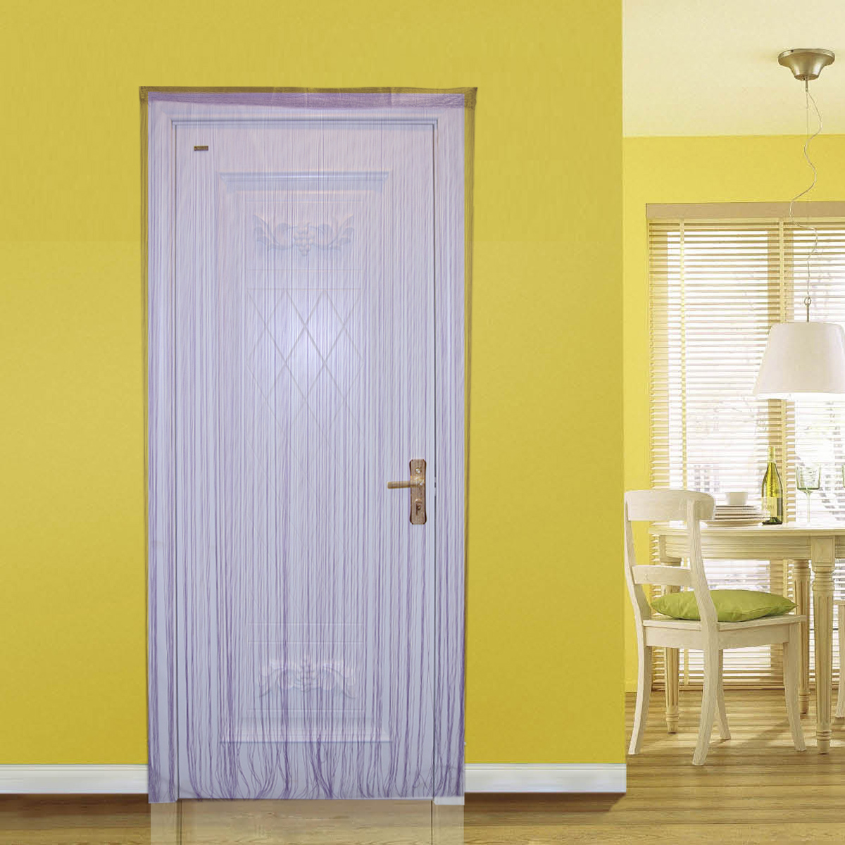 Light yellow curtains - Light Purple Royal Blue Rose Red String Curtain Home Decoration Polyester Door Curtain Partition
