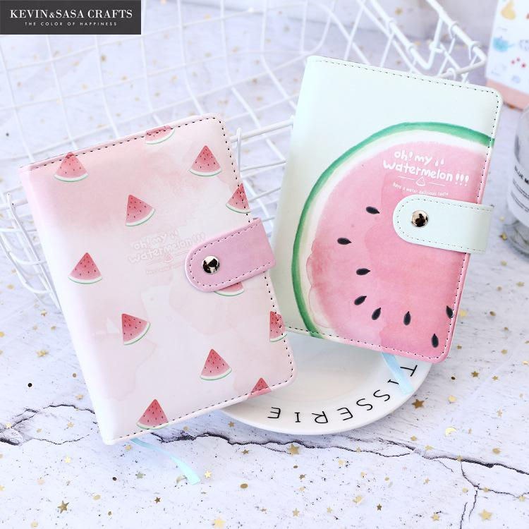 Watermelon Notebook Quality Fabric Planner Sketchbook Diary 80 Sheets Note Book Kawaii Journal Stationery School Tools Supplies fabric notebook luxury blank inner 120 sheets 17 10cm 2017 planner sketchbook diary note book journal stationery school supplies