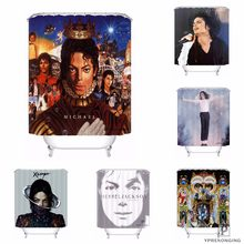 Custom Michael Jackson Waterproof Shower Curtain Home Bath Bathroom s Hooks Polyester Fabric Multi Sizes#0421-sohu-28(China)