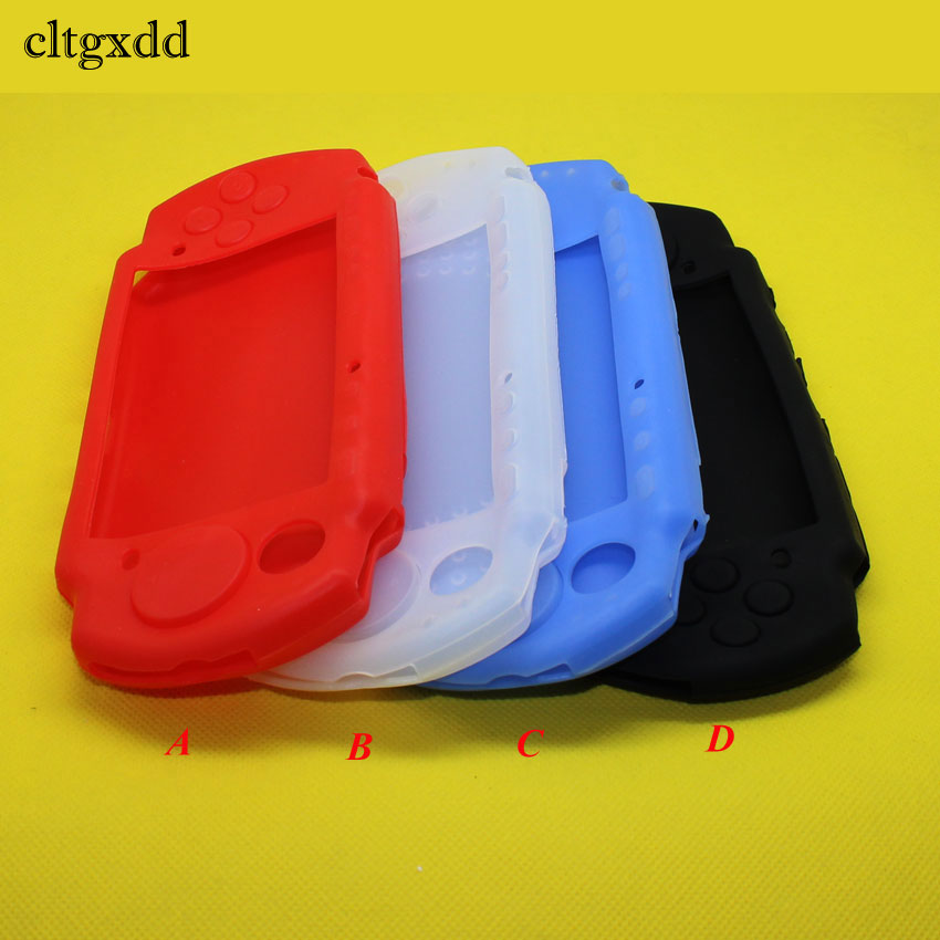 YX-246  4color Soft Silicone Rubber Skin Case Cover for PSP 2000 3000 Game Controllers Gel Protective