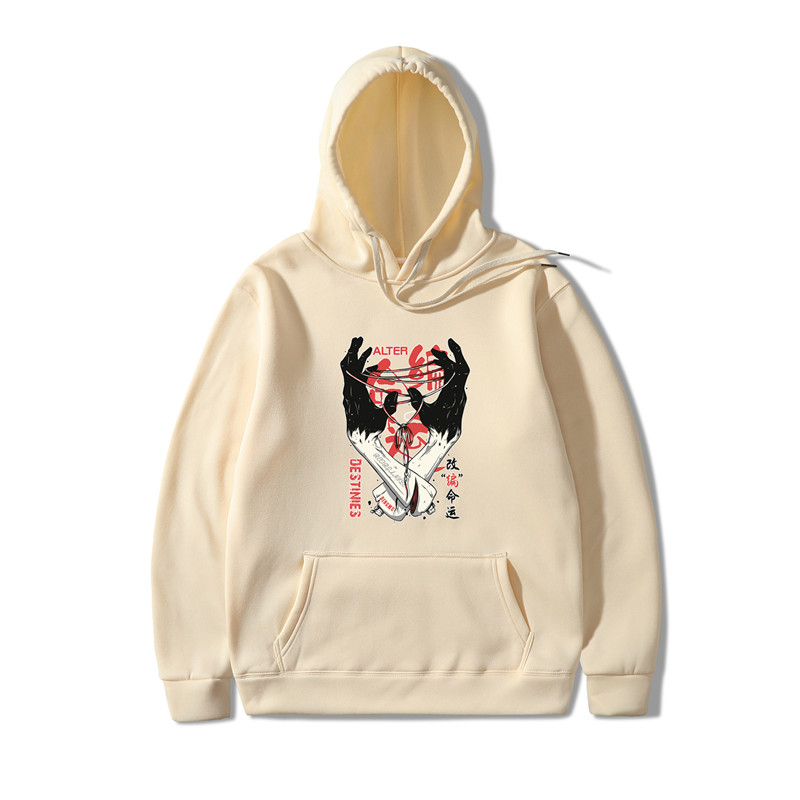 2019 Adapting Fate Print Bluzy Meskie Hoodies Men/Women Hooded Sweatshirts 2019 New Harajuku Hip Hop Hoodies Japanese Hoodie Men
