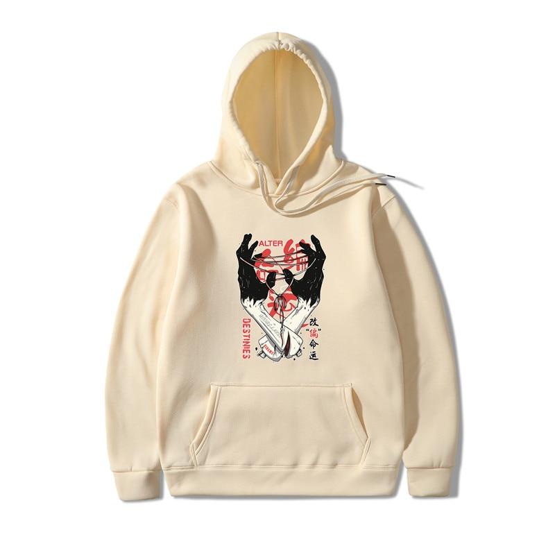 2019 Adapting Fate Print Bluzy Meskie Hoodies Men/Women Hooded Sweatshirts 2019 New Harajuku Hip Hop Hoodies Japanese Hoodie Men