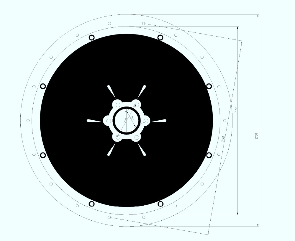 500W,750W,1000W Front Motor Cover Drawing-2