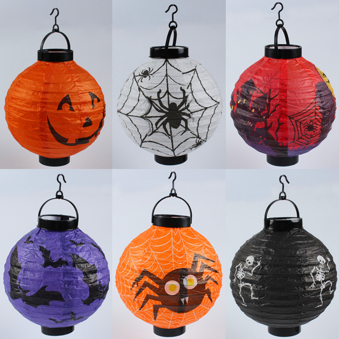 1pc 20cm Halloween Decor Paper Lanterns Printed Pumpkin