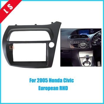 2DIN Car Refitting Radio Fascia for 2005 Honda Civic European RHD 2 din,Trim Panel Installation Kit Dash Mount Audio frame