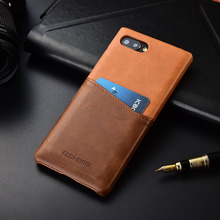 Luxury brand thin retro genuine leather back cover case For blackberry key2 phone cases and covers key 2 protective shell