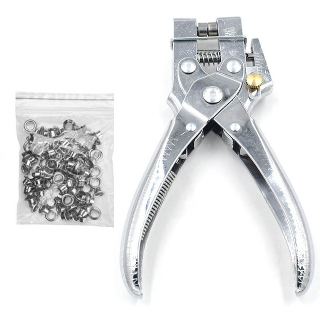2in1 Hole Setting Plier Cloth Punch Eyelet Leather Card Shoe Grommet Bag/_