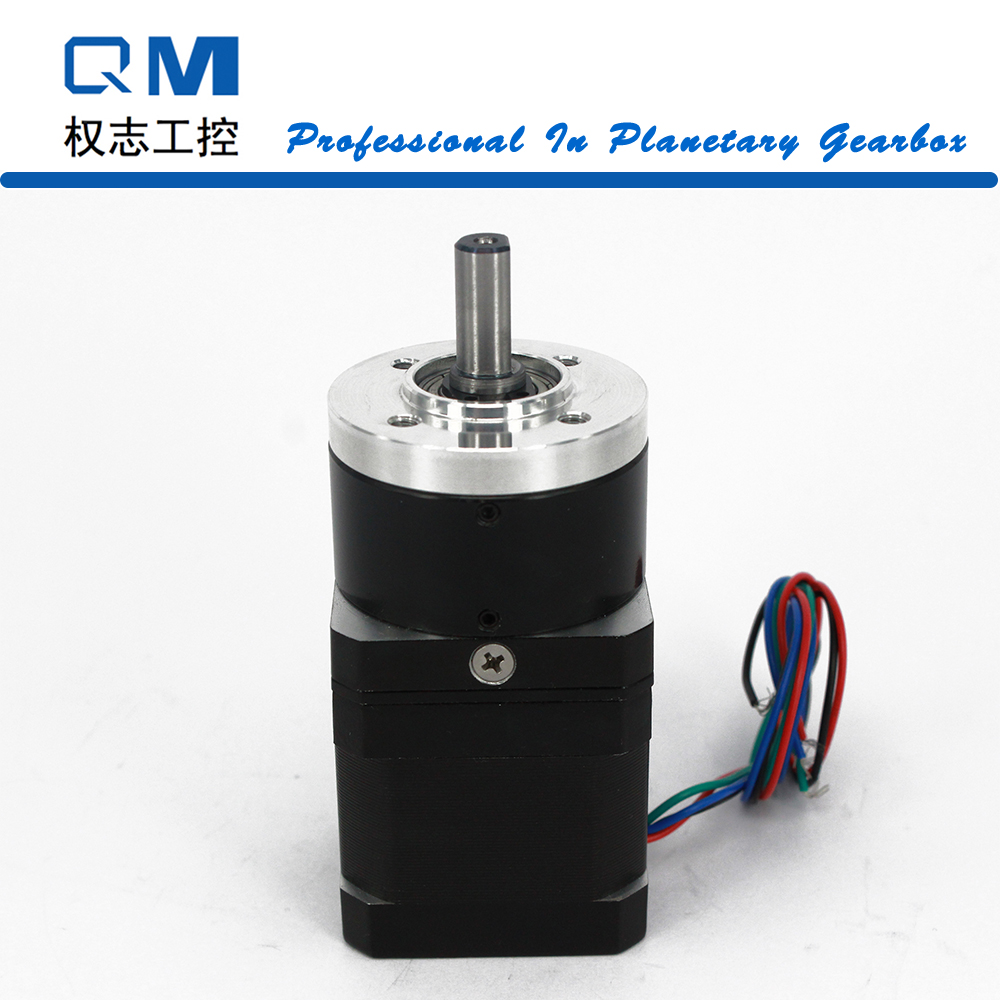 Gear stepper motor nema 17 L=40mm planetary reduction gearbox ratio 10:1      cnc robot pump ratio 10 1 gear stepper motor nema34 stepping motor with gearbox 3nm 4a 86byg l66mm shaft 15mm for cnc router new