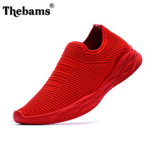 Thebams 2018 Spring New Breathable Mesh movement Men's Casual Shoes Men's Vulcanized shoes 3 Color Size 39-44 Free Shipping