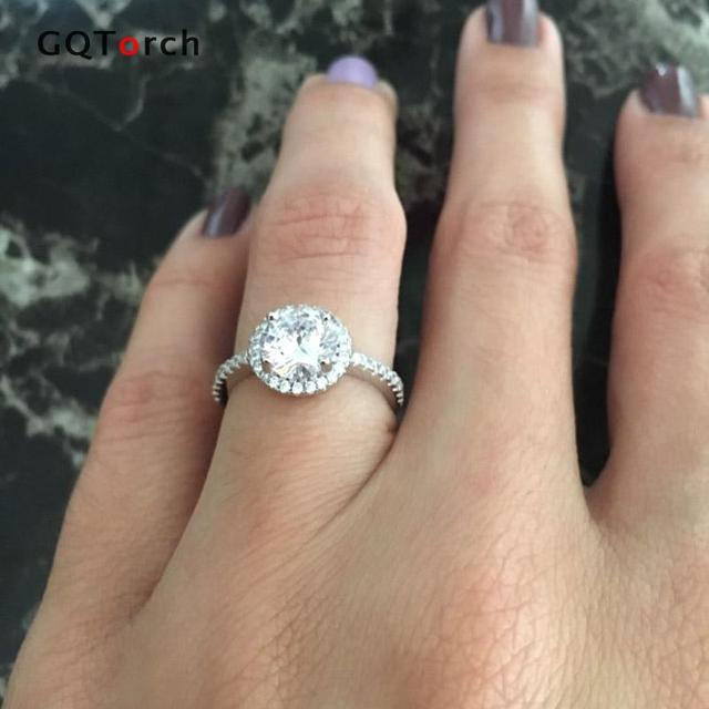 Cubic Zirconia CZ Diamond White Gold Plated Ring