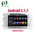 2 Din Android 5.1 Quad Core HD 1024*600 Carro DVD Player para Ford Focus Cmax Mondeo S-Max Galáxia Áudio do carro Radio Stereo Cabeça Unidade