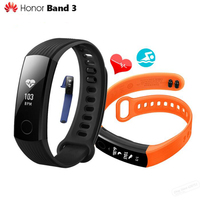 Original Huawei Honor Band 3 Smart Wristband Swimmable 5ATM 0 91 OLED Screen Touchpad Heart Rate