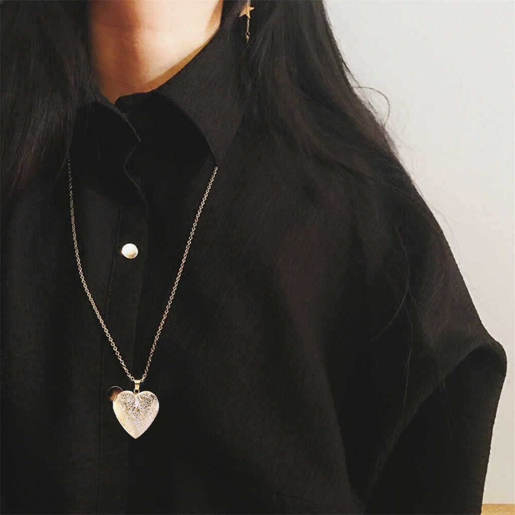 Gaya Kalung Wanita Kolye Jantung Foto Bingkai Kotak Kalung Liontin Perhiasan Gothic Kalung Collares Collares De Moda 2019 L0515