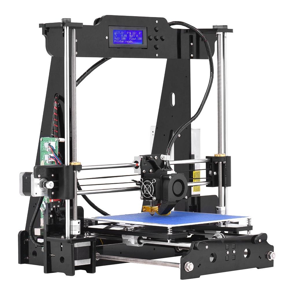 Haute Précision Bureau 3D Imprimante Kits DIY Assemblée Auto Acrylique Cadre Impresora Impressora Pas Cher 3D Imprimantes