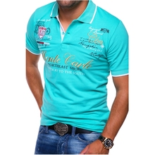 ZOGAA Mens Short Sleeve Polo Shirt Fashion Letter Printing Casual Shirts for Men Polos Clothes 2019