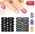 New Flower Stamping Nail Art Hollow Sticker Templates Nail Stencils Stickers For Gel Nail Polish Template Guide