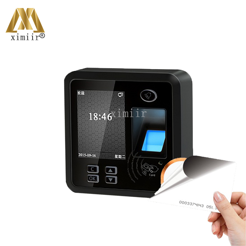TCP/IP Color Screen Biometric Fingerprint And RFID Card Reader Door Access Control System Standalone Fingerprint Time Attendance m80 fingerprint and rfid card access controller standalone biometric fingerprint door access control system with card reader