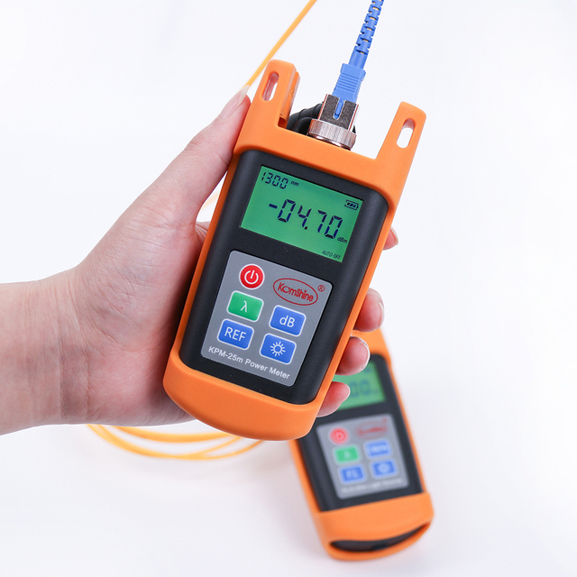 FTTH Cable Tester Fiber Optical Test Tool Fiber Optic Power Meter KPM-25M OPM -70~+10dBm, FC/ ST Connectors are optional
