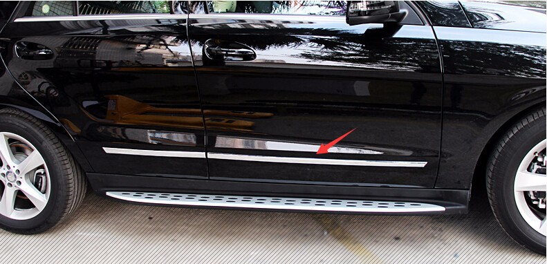 chrome side door molding trim for Mercedes Benz ML accessories car styling (4)