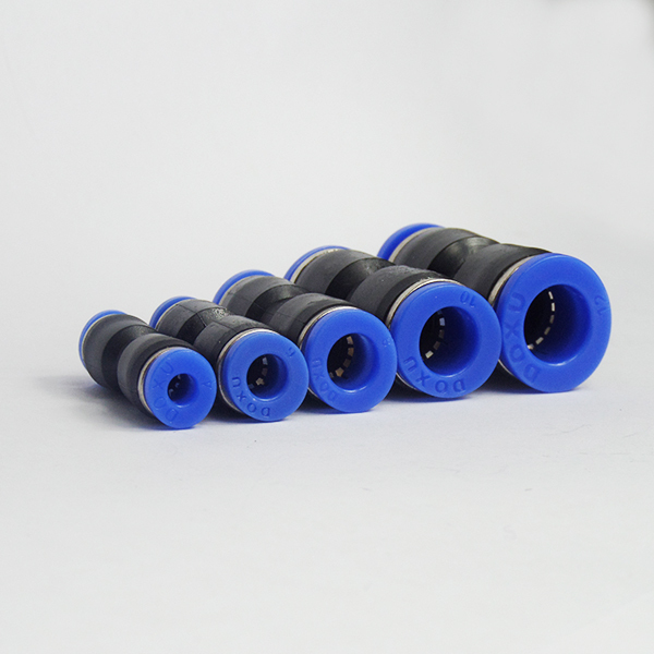 Free shipping 1Pcs PU 4 6 8 10 12 14 MM Straight Push in Fitting Pneumatic Push to Connect Air Quick Fitting