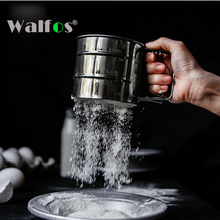 High Quality Stainless Steel Mesh Flour Sifter Mechanical Baking Icing Sugar Shaker Sieve Cup Shape Bakeware Baking Pastry Tools sifters shakers stainless steel mesh flour sifter mechanical baking icing sugar shaker sieve tool cup shape kitchen tools