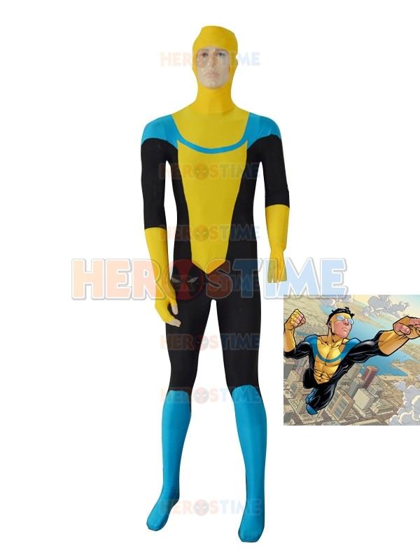 Giallo personalizzato Invincible Mark Grayson Superhero Costume - Costumi di carnevale