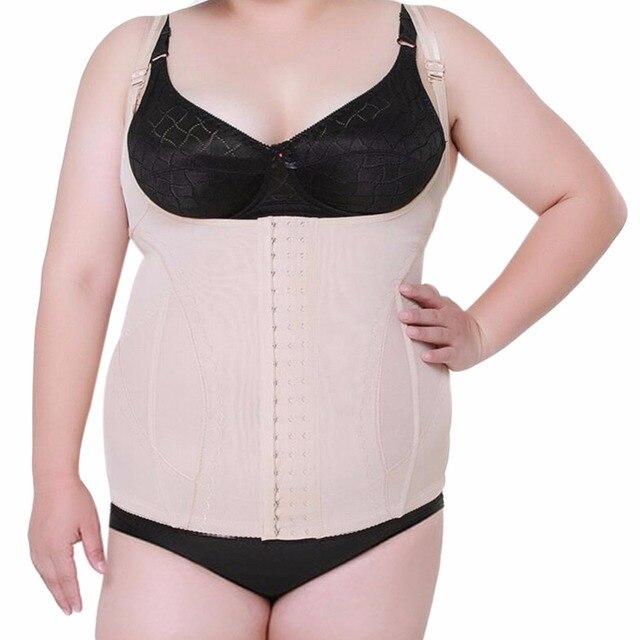 9f216cac6a Large Plus Size Women s Shaper Tops Underbust Corset Waist Trainer Corset  Cincher Body Shaper Vest Belt Tummy Slimming Shapewear