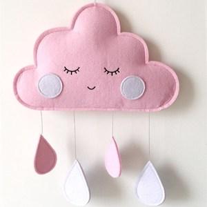 Ins Felt Cloud Raindrop Pendan