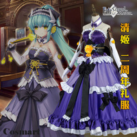 [STOCK]Anime Fate Grand Order FGO figure Kiyohime 2nd Anniversary Ball Lolita Gown Dress Cosplay costume for women New 2017