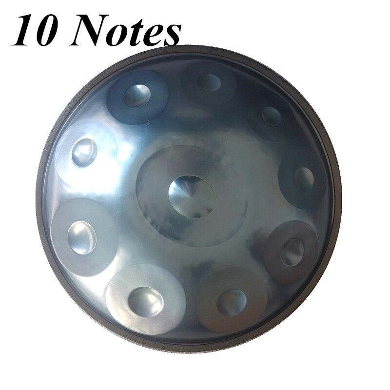 10 notes en acier Handpan tambours faits à la main F major D mineur accrocher tambour musique main pan Drumsmusic percussion instruments