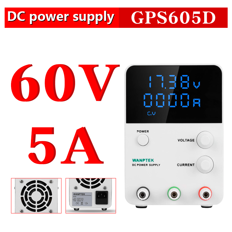 GPS605D Wanptek adjustable laboratory power supply Variable 60V 5A Regulated the power modul Digital switching DC power supply